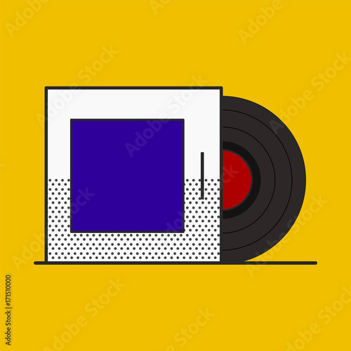 Fotobehang Muziek Illustration of retro object isolated on background