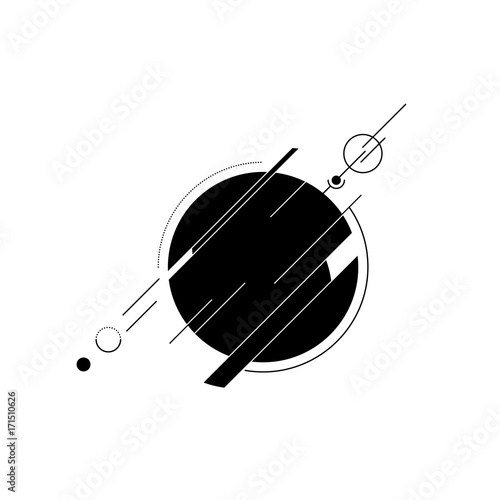 Sticker Abstract background decorative with geometric shape