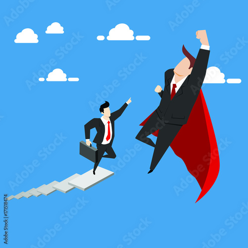 Business competition. Business concept illustration