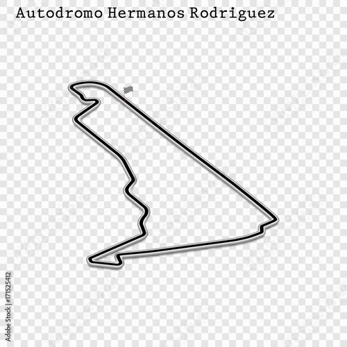 Foto op Plexiglas F1 Mexican grand prix race track. circuit for motorsport and autosport. Vector illustration. autodroma Hermanos Rodriguez