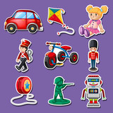 Sticker design for many toys - 171541451