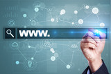 Search bar with www text. Web site, URL. Digital marketing. Business, internet and technology concept. - 171545069