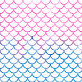 Mermaid scales. Watercolor fish scales. Bright summer pattern with reptilian scales. - 171548022