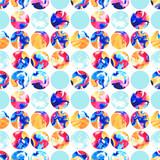Watercolor marbling circles seamless pattern - 171554603