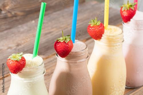 Foto op Plexiglas Milkshake Milchshakes