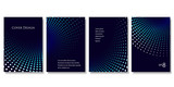 Set of Geometric Backgrounds in Blue Tones. Modern Vector Illustration without Transparency. - 171565426