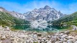 Morskie oko, góra, jezioro. Panorama - 171566426