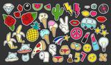 Fototapety Fashion patch badges set