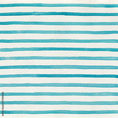 Abstract geometric watercolor striped background - 171580266