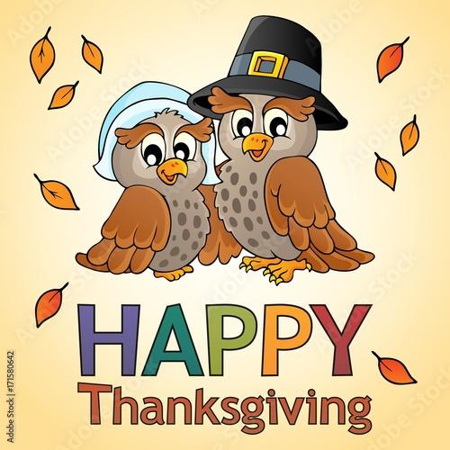 Fotobehang Voor kinderen Happy Thanksgiving theme 9