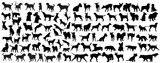Black Silhouette Of A Dog  Wall Sticker