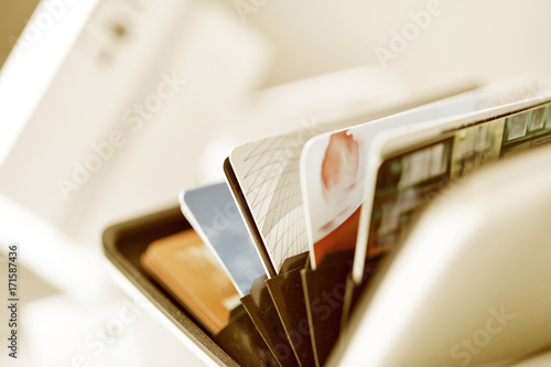 credit cards closeup