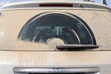 the dust windscreen of car  back view. - 171609611