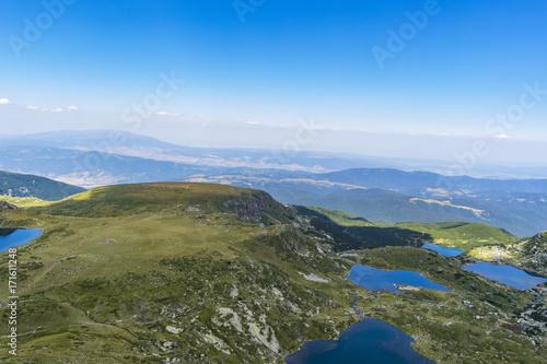 Aluminium Blauwe hemel Rila lakes in Rila mountain - Bulgaria