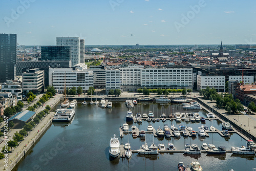 Fotobehang Antwerpen Overview of Antwerp, Belgium