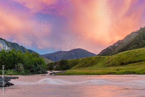 Fotobehang Zalm mountain white boom