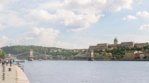 Papiers peints Budapest Panoramic view of city centre of Budapest over the river Danube, Hungary
