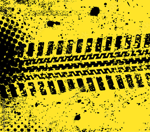 Tuinposter F1 abstract tire track
