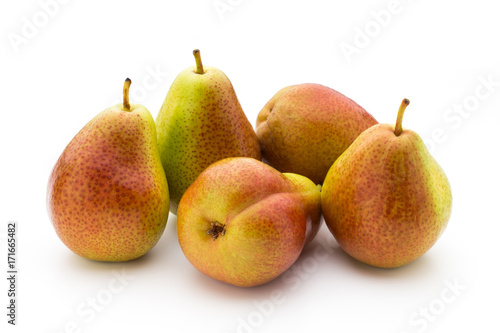Pears isolated on the white background.