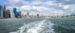 New York, USA - 28 September, 2016: New York Waterway Vista between Manhattan and Brooklyn.