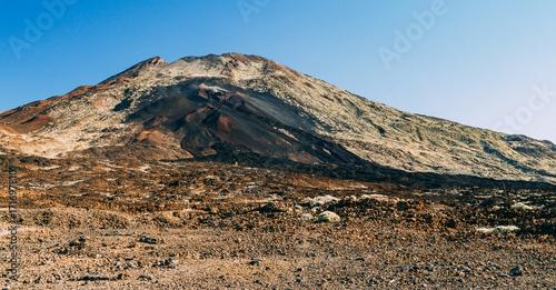 Poster Canarische Eilanden Lunar landscape of volcano Pico Viejo, Tenerife