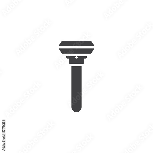Razor icon vector, filled flat sign, solid pictogram isolated on white. Symbol, logo illustration.