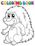 Coloring book hedgehog theme 2