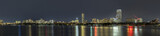skyline of  Boston by night