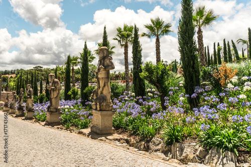 Foto op Canvas Boeddha Buddha Eden Garden statues path in Bombarral, Portugal