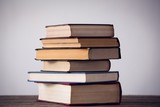 Stack of books on table - 171746867