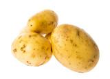 a fresh raw potatoes on a white background - 171758890