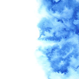 Blue diffluent watercolor background - 171784672