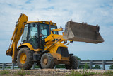 The work of a bulldozer for road construction - 171793030