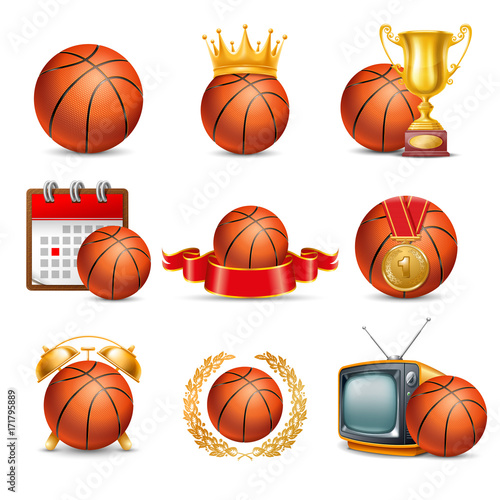 Basketball Ball icon set