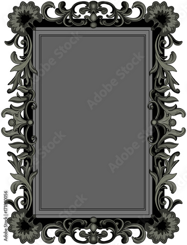 Staande foto Sprookjeswereld Antique Black Frame