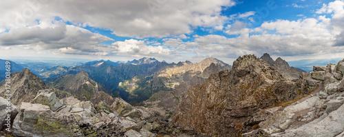 Panoramic view on high Tatra Mountains, Slovakia, Europe