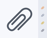Paperclip - Carbon Icons. A professional, pixel-aligned icon  designed on a 32x32 pixel grid and redesigned on a 16x16 pixel grid for very small sizes. - 171826646