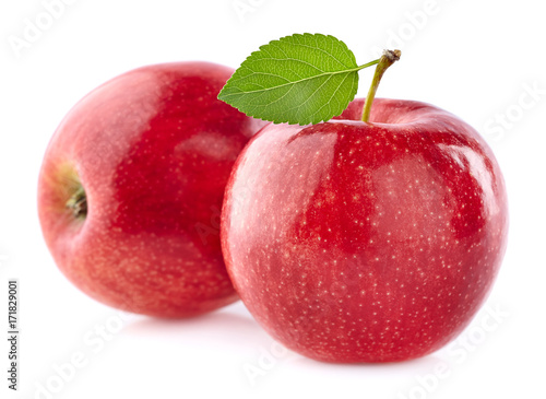 Two apples with leaf - 171829001