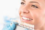 Beautiful smile and white teeth of a young woman. - 171831099