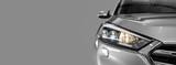Gray modern car on black background. - 171831451