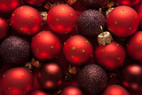 Background  with red Christmas balls. - 171833438
