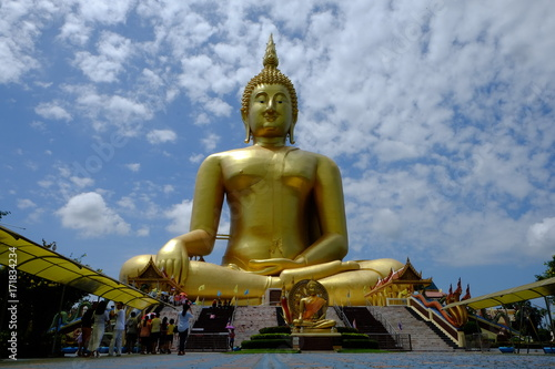 Foto op Canvas Boeddha Buddha on the sky background and outdoors