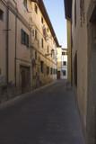Narrow street in the small city of Lastra a Signa, Italy