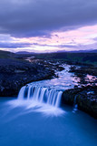 Dawn, Plofafoss waterfall, Pjorsa River, Iceland
