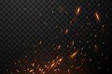 Fototapety Fire flying sparks