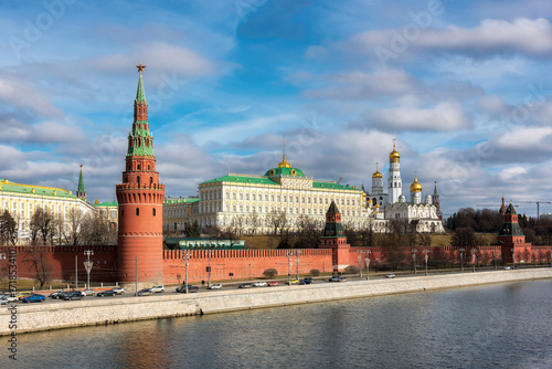 Fotobehang Moskou Moscow Kremlin in the autumn at sunny day, Moscow , Russia.