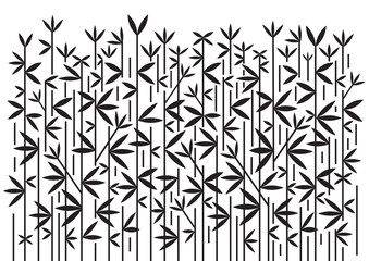 Bamboo decorative black background.