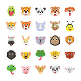 Animals Colored Vector Icons Set 1