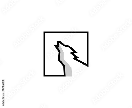 Fototapeta Wolf logo