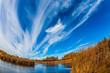 The autumn sun over river Winnipeg
